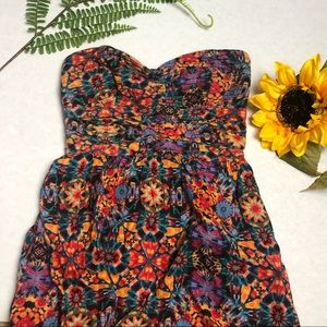 Band of Gypsies   Floral Tube Strapless Sundress